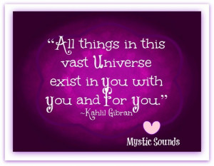 All things in this universe