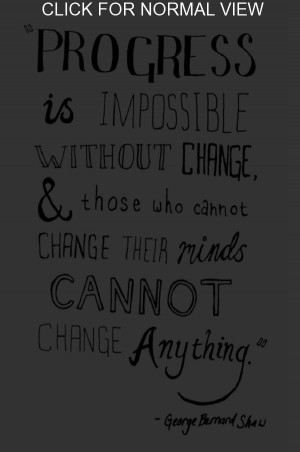 Change Is Must
