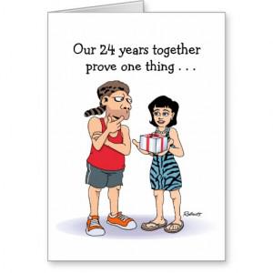 24th Wedding Anniversary Card: Love