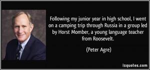 Following Junior Year...
