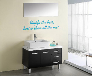 Sky blue Simply The Best 2 (Tina Turner) Lyric wall decal over a ...