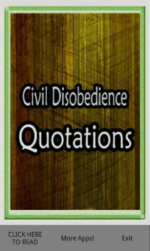 View bigger - Civil Disobedience Quotes for Android screenshot