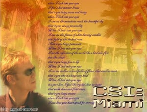 Horatio Caine wallpapers whit poetry's in dear