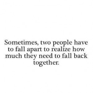 Fall Back Relationship Quotes