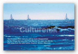 ... about TRAVEL POSTER Ocean Good Day For Sailing Mark Twain Quote
