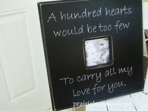 Custom Made 20x20 Picture Frame With Quote Choose your own colors ...