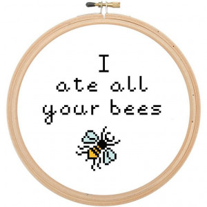 10) Name: 'Embroidery : Black Books Quote Cross Stitch Pattern