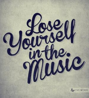 ... Writing #Quote #Saying #Five #Words #Eminem #Lyrics #Yourself #Music