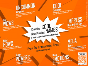 Creative Thinking Tips for Using the Cool Product Names Mini-Poster