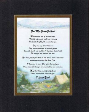Poem for GrandParents - For My Grandfather, Memories Are... Poem ...
