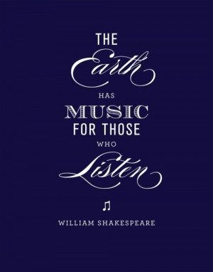 William Shakespeare...Nature's musical symphony is so beautiful! The ...