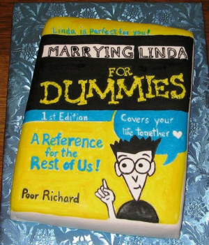 Photo of Funny Groom's Cake in the For Dummies book series theme