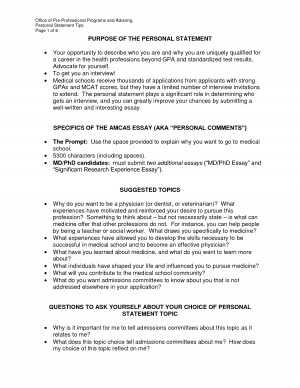 Sample on How to Write Your Personal Background in an Essay