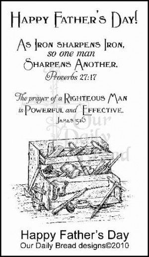 Fathers Day Scripture Stamp - happy father's day