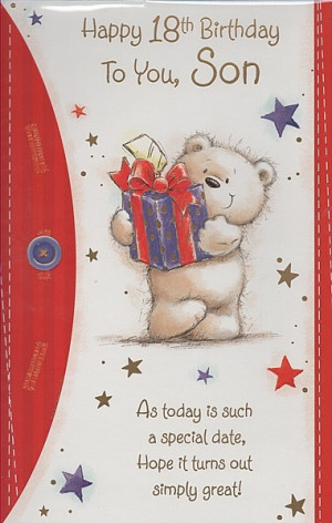 ... Birthday Cards, Son's 1st, 18th and 21st Birthday Cards., Happy 18th
