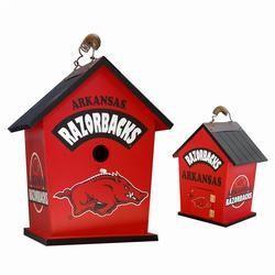 Arkansas Razorbacks Bird House