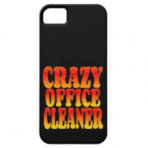 Crazy Office Cleaner in Bright Colors iPhone 5 Cover