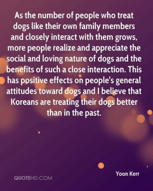As the number of people who treat dogs like their own family members ...
