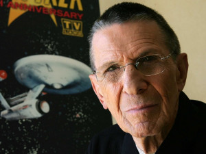 Watch Nimoy's poignant last moment as Spock >