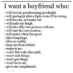want a man who...