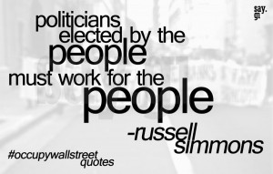 occupy wall street quote by russell simmons by TheSayGi