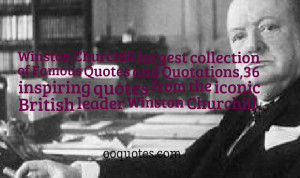 Winston Churchill largest collection of Famous Quotes and Quotations ...