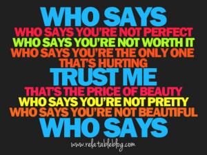 ... this image include: quote, hannah montana did, me, message and perfect