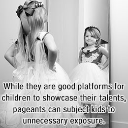 Grooming a child to face the competitive world and coaxing a child to ...
