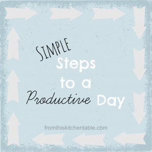 Steps to a Productive Day