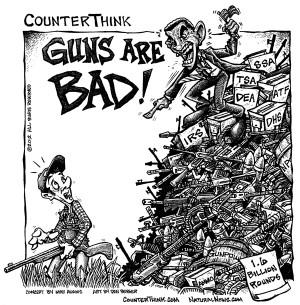 GUNS ARE BAD!' COUNTERTHINK CARTOON REVEALS HYPOCRISY OF GOVERNMENT ...