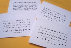 winnie the pooh quote cards set of four love cards letterhappy etsy ...