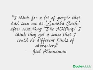 Joel Kinnaman Quotes