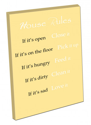 ... about Picture on CANVAS WALL ART Print ready to hang quote HOUSE RULES