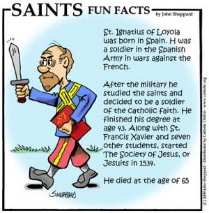 Saints Fun Facts for St. Ignatius Loyola