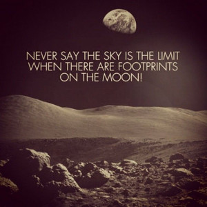 Never say sky is the limit