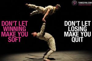 Acrobatic Gymnastics motivational poster @ Gymnastics Floor Music