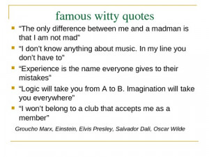 Famous Witty Quotes screenshot