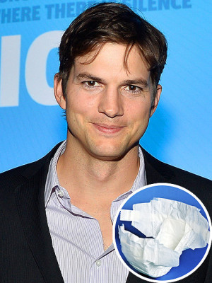 Ashton Kutcher is not messing around about diaper duty. Plus, more ...