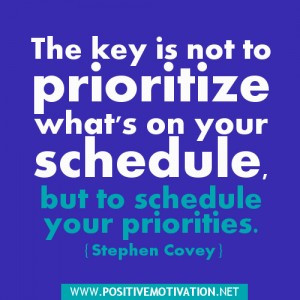 Stephen Covey Quotes about priorities and scheduling