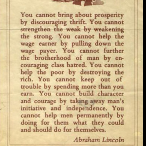 Great Abraham Lincoln quote.
