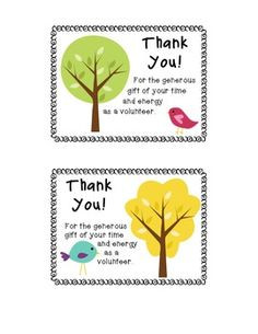 Thank You Postcards for your Parent Volunteers More