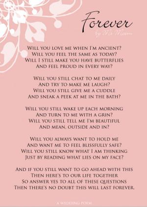 Forever | Fun Wedding Poem | Ms Moem | Poems. Life. Etc.