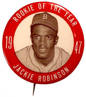 1947 Jackie Robinson Rookie of the Year pin