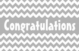Simple Congratulations with Chevron Patter - Black & White Printer ...