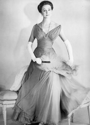 ... Jacqueline, Vicomtesse De, 1950 S Fashion, De Ribes, Retro Vintage