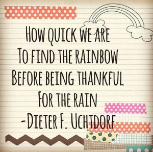 Thankful For Rain
