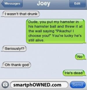 pikachu #i wasn't that drunk #hamster