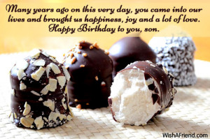 Go Back > Gallery For > Son Birthday Quotes