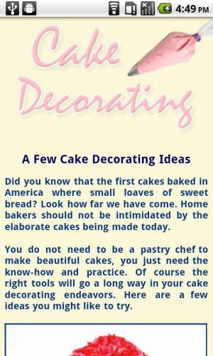 Cake Decorating Tips - screenshot
