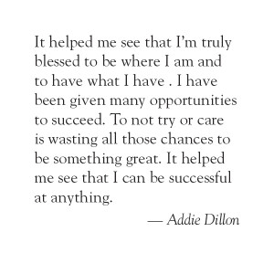 Click Here for Addie Dillon's Quote